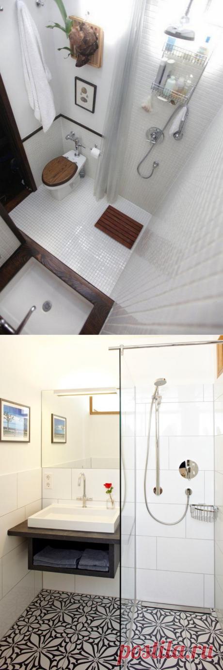 15 крутых решений для 2 м², которые помогут грамотно обустроить маленькую ванную