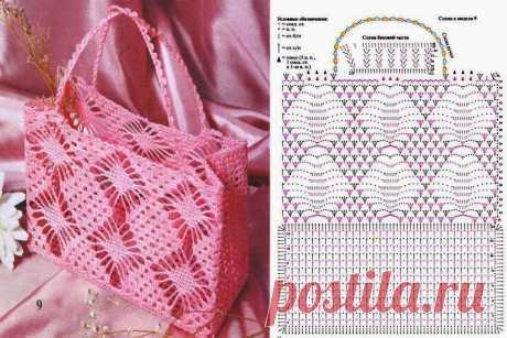 Подборка вязаных крючком сумок со схемами — Сделай сам, идеи для творчества - DIY Ideas