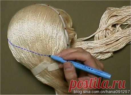 Как сделать кукле волосы. МК.