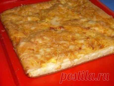 Наливной пирог с сыром    Состав:-3 яйца,-1,5 стакана сметаны,-3 стол.ложки растительного масла,-1,5 стакана муки,-соль по вкусу,-0,5 ч.л.соды, погашенной уксусом,-150 гр. сыра (можно любого на Ваш вкус).Приготовление:3 яйц…