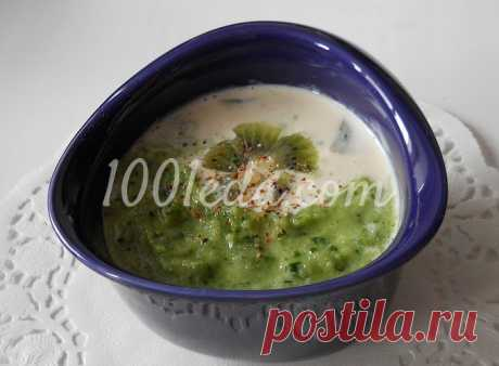 Холодный огуречный суп с киви и петрушкой: рецепт с пошаговым фото - Зеленые супы от 1001 ЕДА