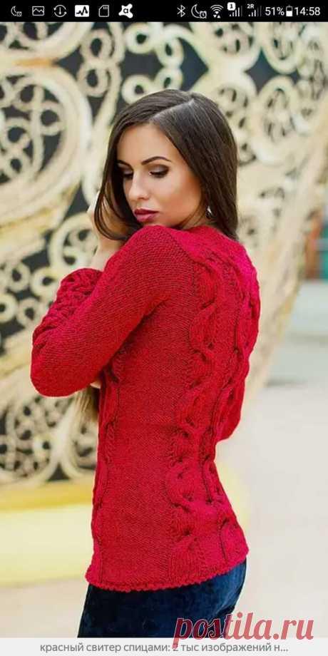 10 оттенков красного. Подборка свитеров спицами.Нарядная жизнь. | MuMof2 | Яндекс Дзен
