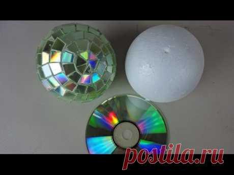 BOLAS DE DISCOTECA CON CD RECICLADOS