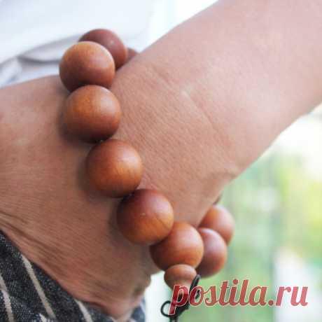 Sandalwood Beaded Bracelet-20mm Beads Bracelet-Buddhist   Etsy