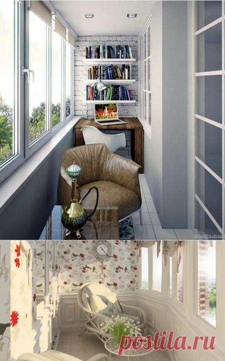 19 крутых идей обустройства небольшой лоджии в городской квартире