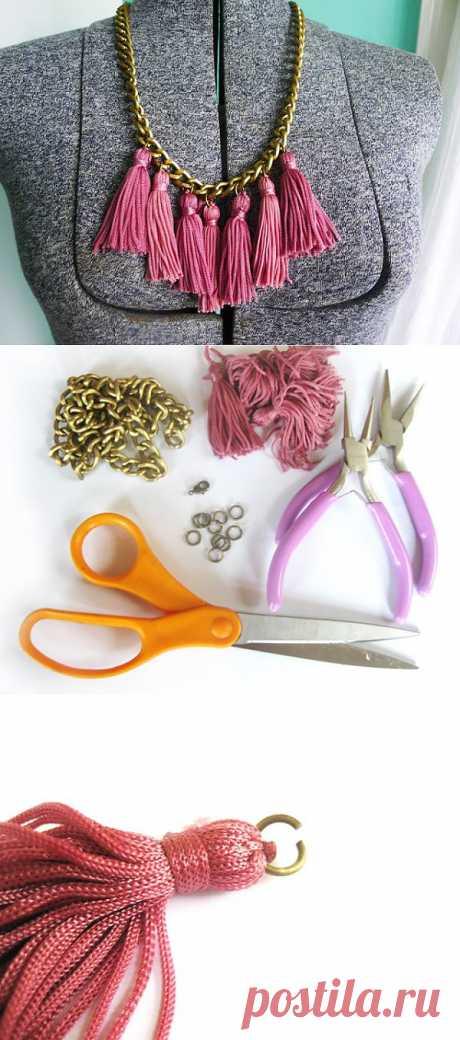 El collar con kistochkamit (Diy) \/ Adornamientos y la bisutería \/ el sitio A la moda sobre el rehacimiento de estilo de la ropa y el interior