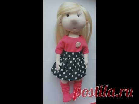 МК кукла интерьерная своими руками Интерьерная кукла из трикотажа Тело Переводим выкройку на ткань