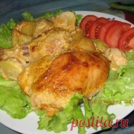 Вкусная курочка в маринаде вместе с картошкой в духовке - МирТесен