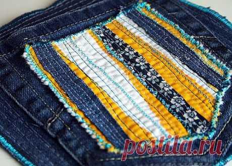 прихватка из старых джинсов, как сделать подобную см на сайте