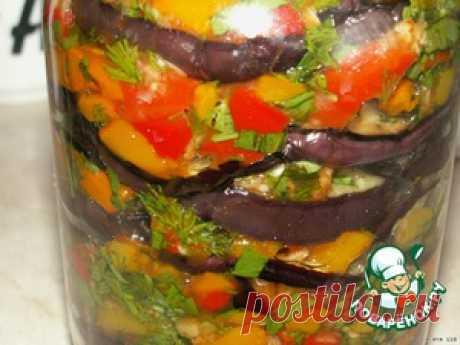 """Маринованные баклажаны """"Мозаика"""" вкусный рецепт приготовления с фото пошагово как готовить"""