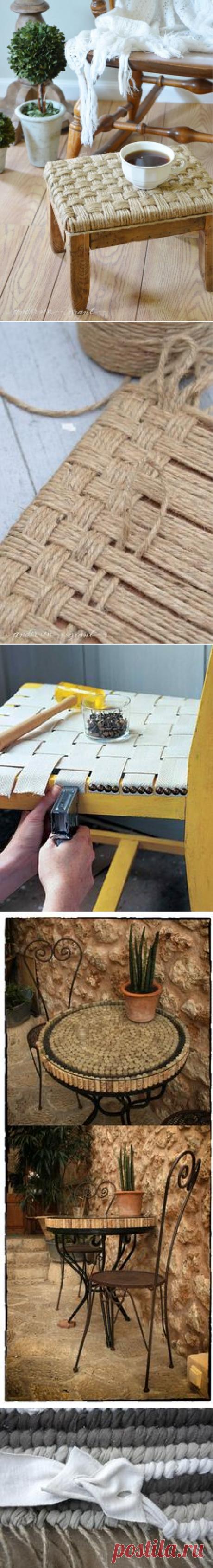 Rustic DIY Footstool