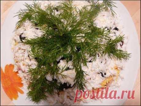 Салат из копченой курицы с черносливом от videokulinaria.ru По-особенному вкусным и нежным получается этот салатик.- YouTube