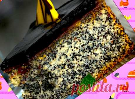 Кокосово-маковый торт-пирог с шоколадной глазурью | уДачные советы | Яндекс Дзен