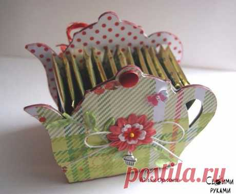 Teapot for tea bags. Master class