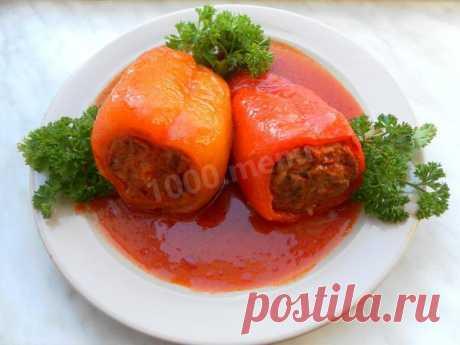 Классический фаршированный перец рецепт с фото пошагово - 1000.menu