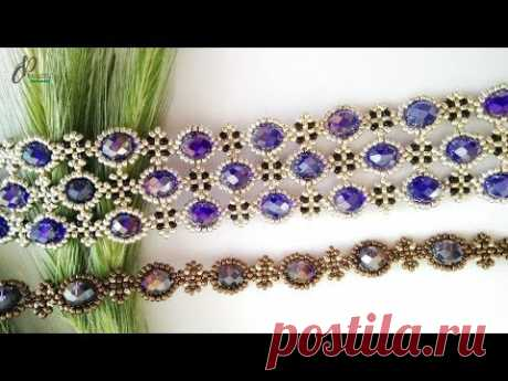 Passion Bracelet 💖| Beautiful Beaded Cuff Bracelet| How to make beaded bracelet 👍