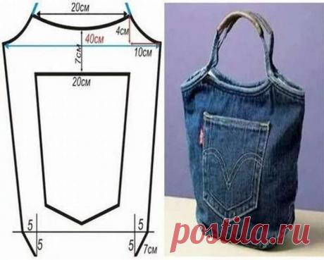 Перерабатывает старые джинсы в дорожные сумки и сумки- шопперы! Идеи, примеры и выкройки! | Юлия Жданова | Яндекс Дзен