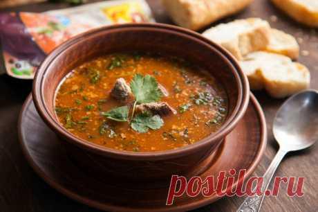 Суп Харчо из говядины | | Кухня Кухня Суп-харчо, национальный грузинский суп делается исключительно из говядины, попробуйте вот такой рецепт.Настоящий суп харчо из говядины по грузинскому рецепту – это удивительный перелив вкусов: