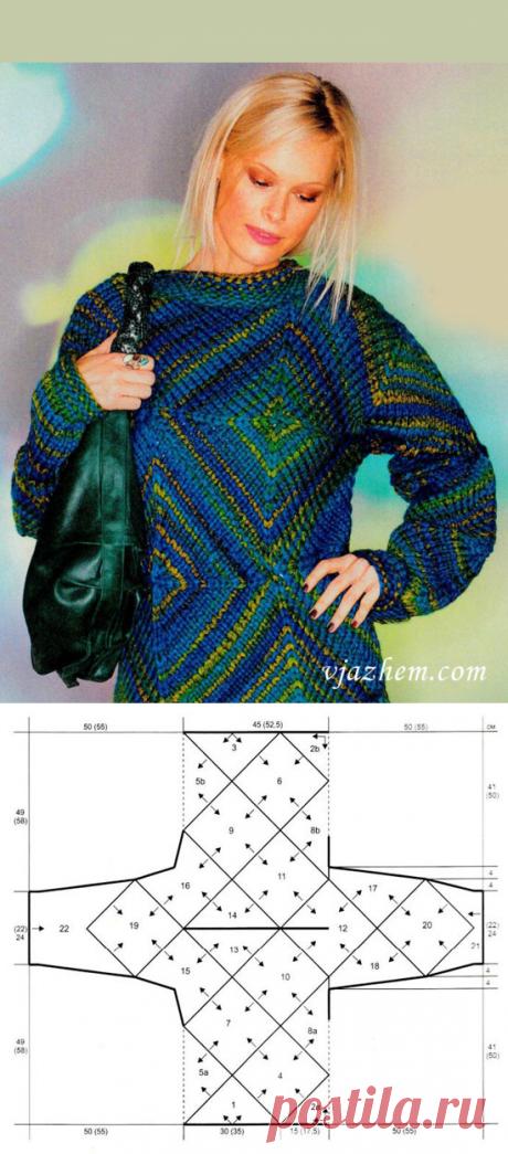 El pulóver de los cuadrados y los triángulos