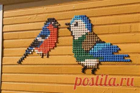 Декор для сада из разноцветных пластиковых крышечек | 38 рукоделок | Яндекс Дзен