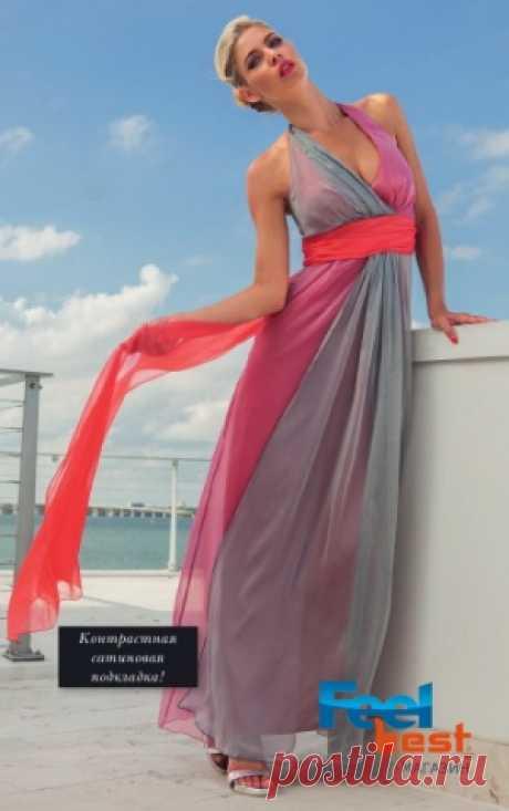 Платье женское длинное шифоновое, Sibilla Pavenstedt