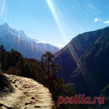 Горная тропа. #непал,#гора,#тропа,#гималаи,#путешествия,#треккинг.