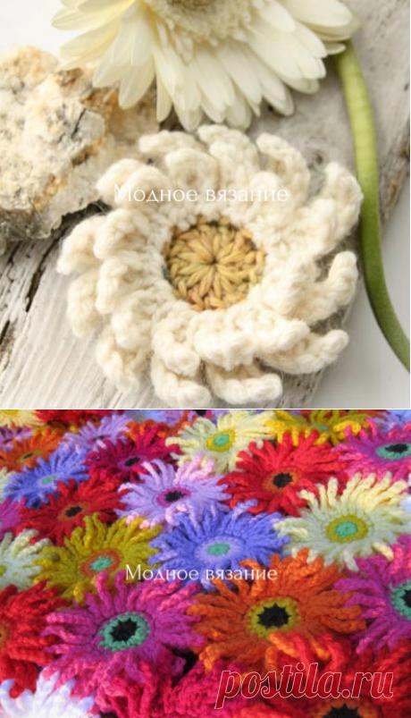 Цветочные пледы крючком - *Герберы* и *Ромашки*  - Crochet - Modnoe Vyazanie