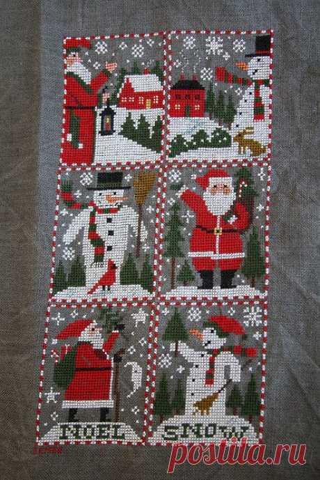 Фотографии от пользователя interchangeableparts на flickr  · · · This weekend I put the final stitch in Santas and Snowmen, this year's Prairie Schooler annual santa design. Blogged about here.