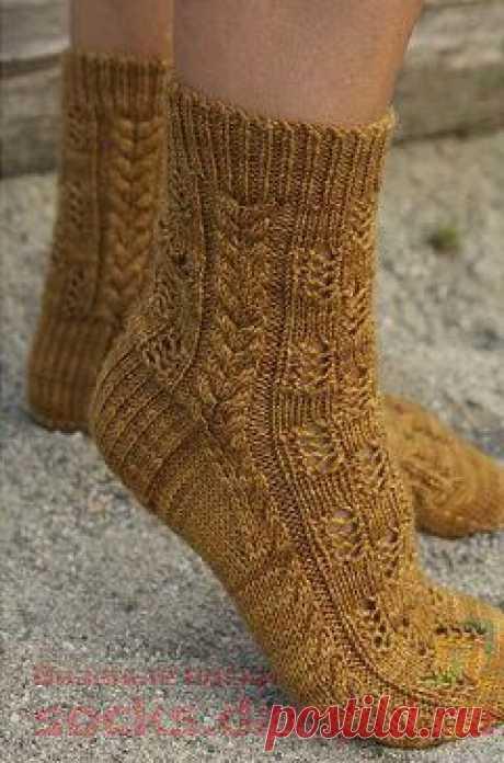 Ажурные носки «Granola» | ВЯЗАНЫЕ НОСКИ