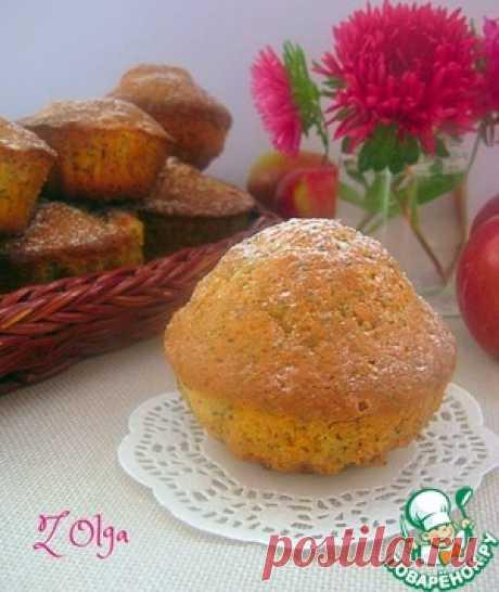 Яблочные кексы с маком - кулинарный рецепт