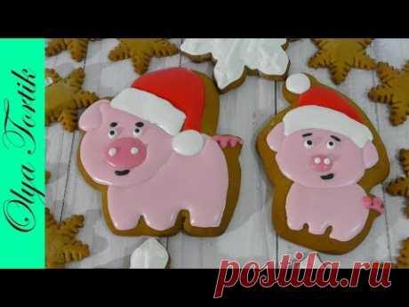 Пряники на Новый 2019 год свиньи Пряник Новогодний Пряник Свинка символ 2019 года