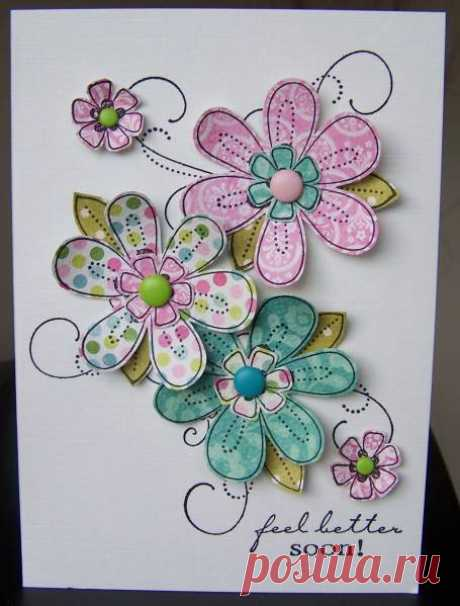 Feel Better Flowers by bfinlay - at Splitcoaststampers