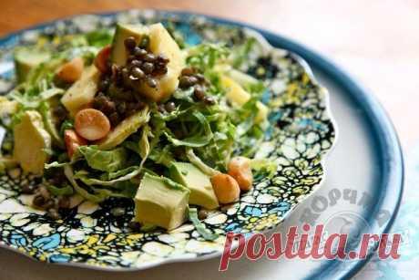 Великолепный салат из капусты с ананасом. Сочетание божественное!