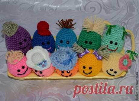 Готовимся к празднику: вяжем забавные пасхальные яйца - Ярмарка Мастеров - ручная работа, handmade