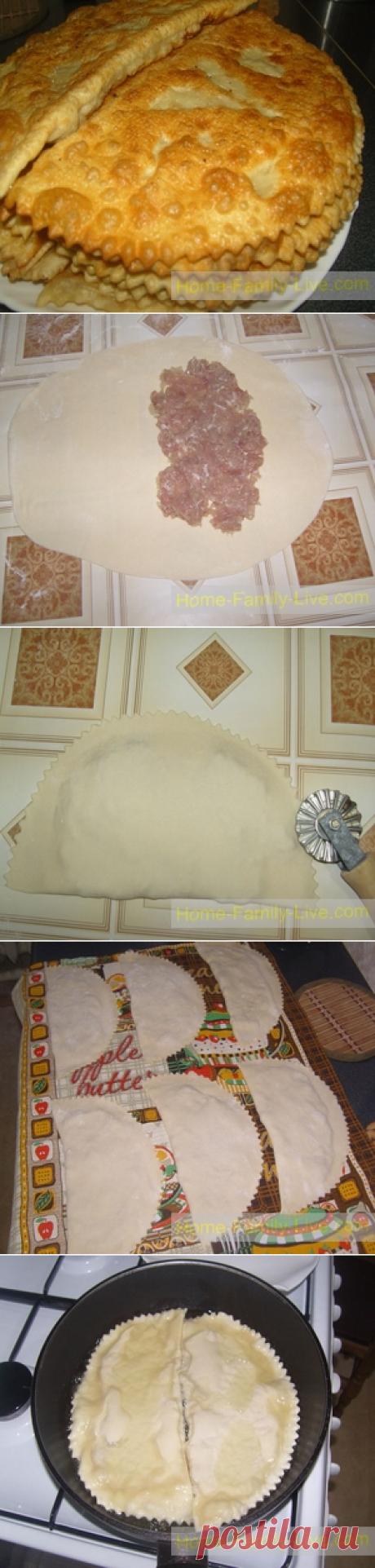 Чебуреки - пошаговый фоторецептКулинарные рецепты