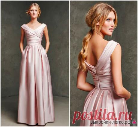 Вечернее платье с открытой спиной. Инструкция по распечатке выкроек и пошиву   Шить просто — Выкройки-Легко.рф