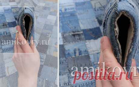Ковры из старых джинсов Jeans Pocket Rug AMIKOVRY (подборка) / Переделка джинсов / ВТОРАЯ УЛИЦА