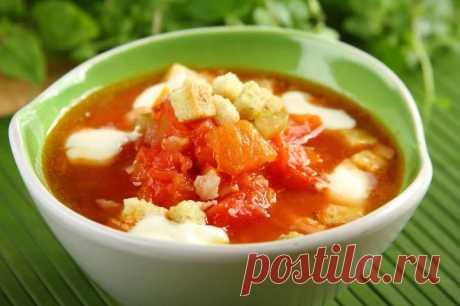 Томатный суп с беконом и гренками – пошаговый рецепт с фото.