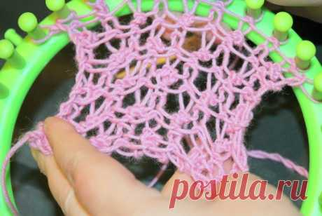 Учимся вязать на луме (Loom knitting). Урок девятый: ажурный рисунок для лума