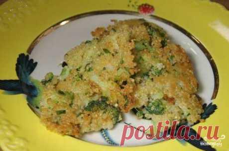 Брокколи с сыром на сковороде
