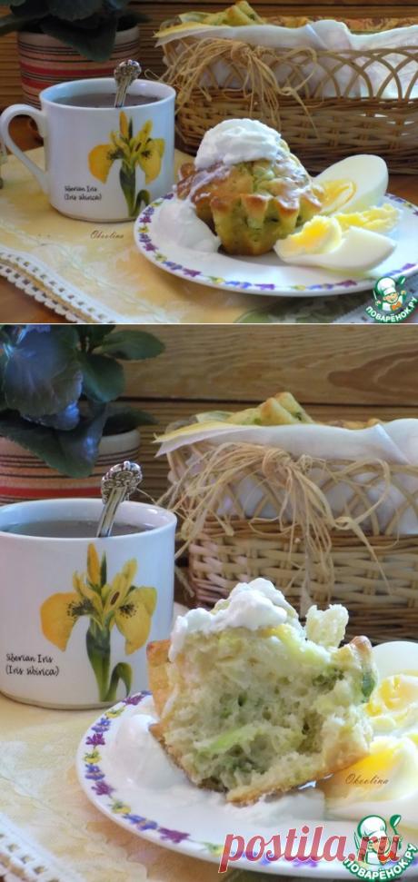 Кексы к завтраку из молодой капусты - кулинарный рецепт