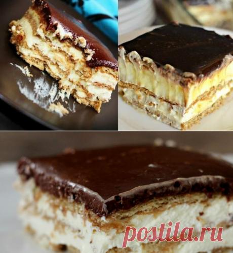 Торт-эклер без выпечки - сладкоежки будут в восторге! | Четыре вкуса