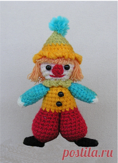 МК шкатулка с вязаным клоуном