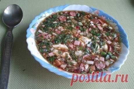 Окрошка с охотничьими колбасками, рецепт с фото — Вкусо.ру