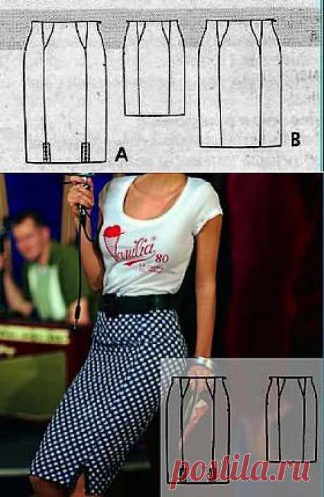 Выкройка прямой юбки для размеров 17, 18, 19, 20, 21 | Дама