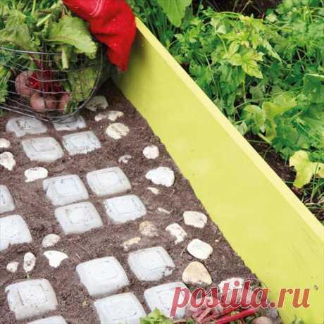 Узорчатая цементная дорожка для сада и участка — EverydayME | EverydayMe Russia