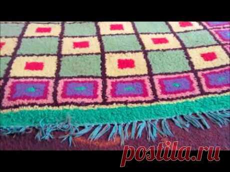 Как научиться ткать настоящий ворсовой ковёр. Станок и пряжа...