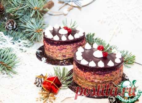 Печеночное пирожное со смородиновым желе – кулинарный рецепт