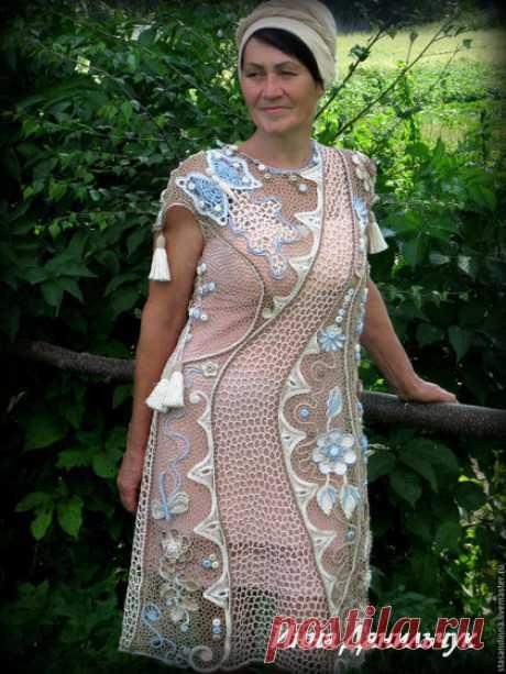 """Купить Платье """"Воздушное лето"""" - комбинированный, цветочный, Платье нарядное, платье летнее"""