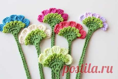 крючок | Bookmarks, Crochet and Flower